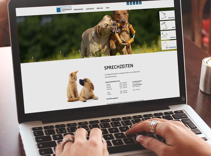 Tierärzteteam Tiefenbach Corporate Design