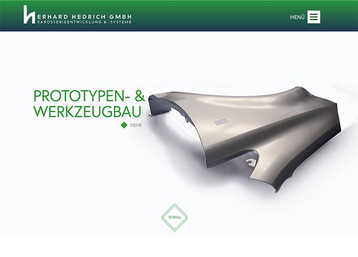 Hedrich Karosserieentwicklung Website